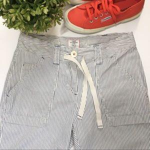 H&M LOGG Striped Cotton Trouser Pants Size 6